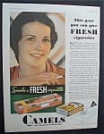 1931 Camel Cigarettes with Woman Smoking a Cigarette