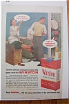1957 Winston Cigarettes w/ Man & Woman Talk with Mover