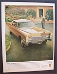 1968 Cadillac with Two Men Talking Along Side the Car