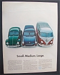 1967 Volkswagen with Different Size Vehicles
