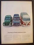 1967 Volkswagen with How It Comes In Three Sizes