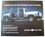 Click here to enlarge image and see more about item 6667: Vintage Ad: 2004  Chevrolet  Silverado