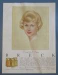 Click to view larger image of Vintage Ad: 1961 Breck Shampoo w/ Breck Woman (Image1)