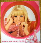 Click to view larger image of 1968 Pink Lustre Creme Shampoo with Lovely Blonde Woman (Image2)