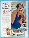Click to view larger image of 1960 Coppertone Suntan Lotion with Janet Leigh (Psycho) (Image1)