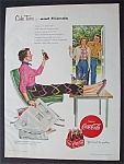 1954 Coca Cola (Coke) with Woman Sitting with Newspaper
