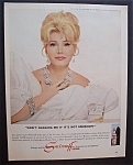 1967 Smirnoff Vodka with Zsa Zsa Gabor (Green Acres)
