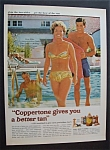 1967 Coppertone Suntan Lotion with Vera Miles