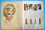 Click to view larger image of Vintage Ad: 1963 Breck Shampoo with Breck Woman (Image1)