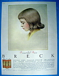 Click to view larger image of Vintage Ad: 1957 Breck Shampoo w/ Little Breck Child (Image1)