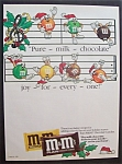 Vintage Ad: 1985 M & M Chocolate Candies