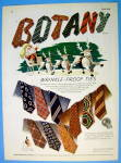 1945 Botany Wrinkle Proof Ties with Santa & His Sleigh