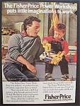 1989 Fisher-Price Power Workshop Man & Boy with Drill
