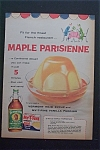 1959 Vermont Maid Syrup with Maple Parisienne