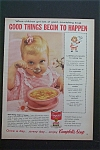 1959 Campbell's Soup with Little Girl Eating Soup