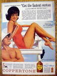 Click to view larger image of 1963 Coppertone Suntan Lotion with Nancy Kovack (Image1)