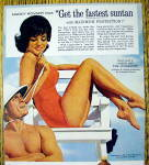 Click to view larger image of 1963 Coppertone Suntan Lotion with Nancy Kovack (Image2)
