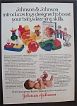 1981  Johnson & Johnson  Child  Development  Toys