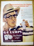 Click to view larger image of Vintage Ad: 1947 General Electric Lamps w/Kenny Delmar (Image1)