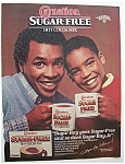 Click here to enlarge image and see more about item 7287: Vintage Ad: 1985 Carnation Hot Cocoa Mix w/Sugar Ray