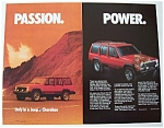 Click to view larger image of Vintage Ad: 1986 Jeep Cherokee (Image1)