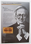 Click here to enlarge image and see more about item 7338: Vintage Ad: 1986 Mastercard with Andre Previn