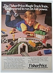 1989 Fisher-Price Magic Track Train with Boy & Train
