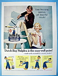 1959 Dutch Boy Nalplex Paint with Man Rolling Paint