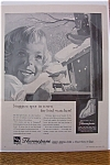 1959 Libbey Owens Ford Glass with Girl Looking at Birds