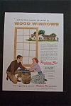 1959 Ponderosa Pine Woodwork with Man & Woman Talking