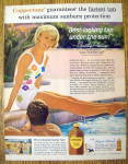 1964 Coppertone Suntan Lotion with Dorothy Provine