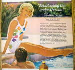 Click to view larger image of 1964 Coppertone Suntan Lotion with Dorothy Provine (Image2)