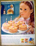 1959 Aunt Jemima Pancake Mix w/Girl & Birthday Pancakes