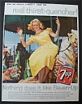 1959 7 Up (Seven Up) with a Woman on a Merry Go Round