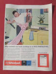 1959 RCA Whirlpool Washing Machine w/ Man & Nightgown