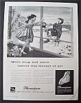 1959 Thermopane Insulating Glass w/Little Girl & Dog
