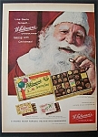 1958 Whitman's Chocolates with Santa Claus & Candy