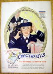 Click to view larger image of 1943 Chesterfield Cigarettes with Woman Soldier (Image1)