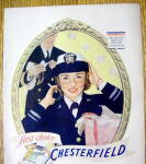 Click to view larger image of 1943 Chesterfield Cigarettes with Woman Soldier (Image2)