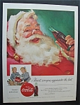 1955 Coca Cola (Coke) with Santa Claus & Bottle Of Coke
