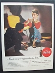 1955 Coca Cola (Coke) with Man & Woman Talking