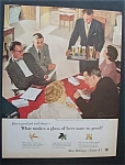 Click here to enlarge image and see more about item 7573: Vintage Ad: 1955 Beer Belongs By Douglas Crockwell