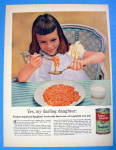 Click to view larger image of 1955 Franco American Spaghetti w/ Girl Eating Spaghetti (Image1)