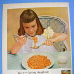 Click to view larger image of 1955 Franco American Spaghetti w/ Girl Eating Spaghetti (Image2)