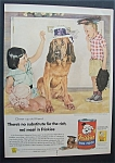 1955 Friskies Dog Food By Douglas Crockwell /Girl & Dog