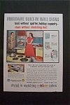 1959 Frigidaire Built In Wall Oven w/Woman Showing Man