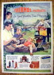 1959 Thermos Products with Family On A Picnic