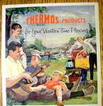Click to view larger image of 1959 Thermos Products with Family On A Picnic (Image2)