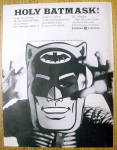 Vintage Ad: 1966 General Electric TV Dealer w/ Bat Mask