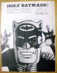 Click to view larger image of Vintage Ad: 1966 General Electric TV Dealer w/ Bat Mask (Image1)